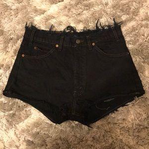 VINTAGE Levi denim cut off shorts